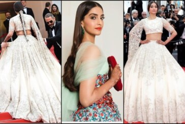 Newly Wed Sonam Kapoor Ahuja Stuns Cannes In Her Desi Avatar Wearing Bridal Lehenga