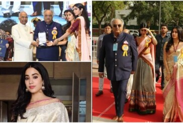 Jahnvi Draped Her Mom Sridevi's Saree At National Film Awards; Boney Kapoor Gets Emotional