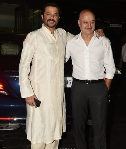 Anil Kapoor at Arpita Khan - Aayush Sharma's Eid Bash