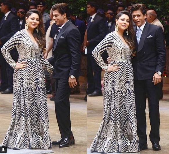 SRK-Gauri at Akash-Shloka Engagement Party