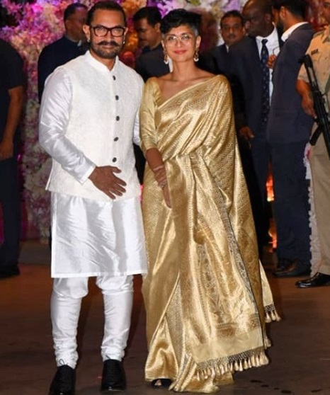 Aamir Khan - Kiran Rao at Akash Ambani -Shloka Mehta's Grand Engagement