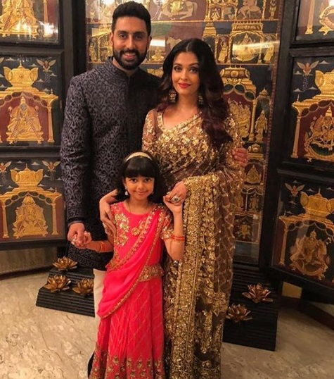 Abhishek Bachchan, Aishwarya Rai, Aaradhya at Akash Ambani -Shloka Mehta's Grand Engagement
