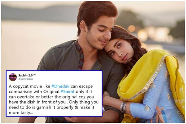 Twitterati Is Not Impressed With Dhadak Movie; Wish To See Sairat Again