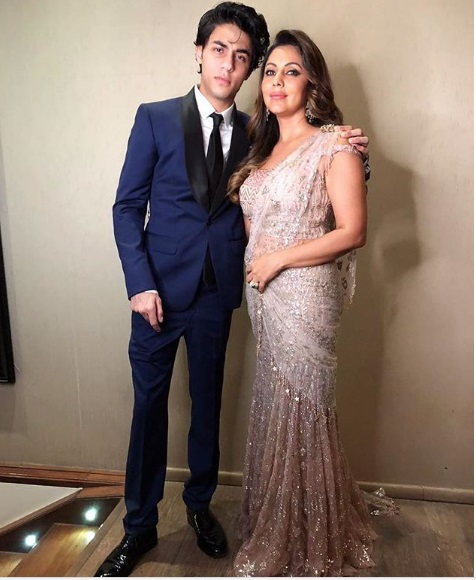 Gauri Khan, Aaryan Khan at Akash Ambani -Shloka Mehta's Grand Engagement