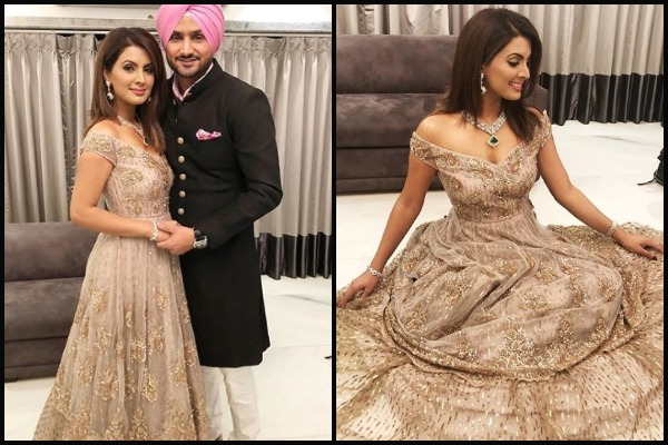 Harbhajan Singh, Geeta Basra at From Bachchan's To Khan's, Singers To Politicians; Akash Ambani -Shloka Mehta's Grand Engagement
