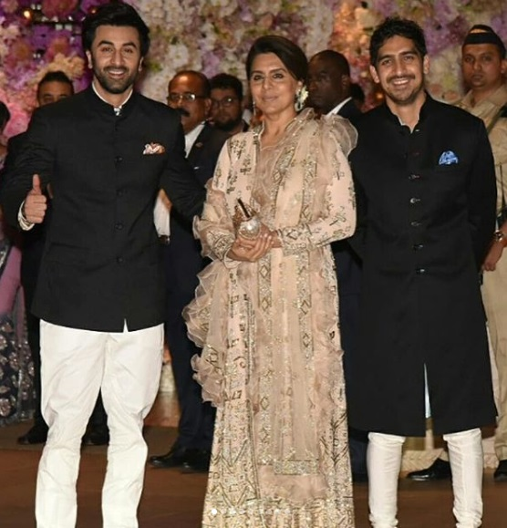 Ranbir-Neetu-Ayan at Akash Ambani -Shloka Mehta's Grand Engagement