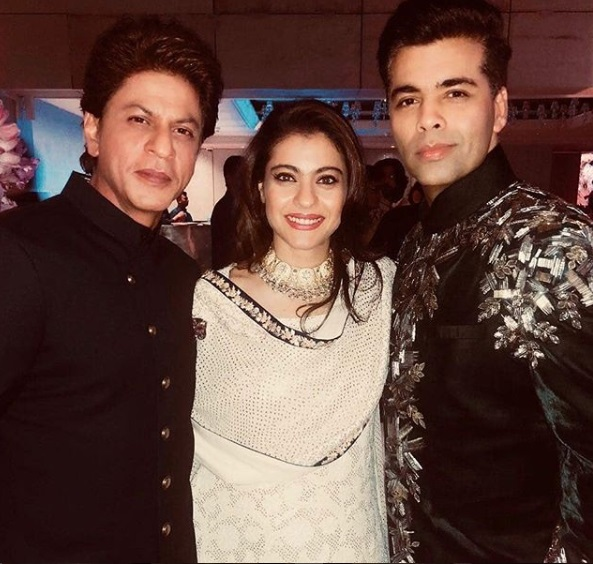 SRK, Kajol, Karan Johar at Akash Ambani -Shloka Mehta's Grand Engagement