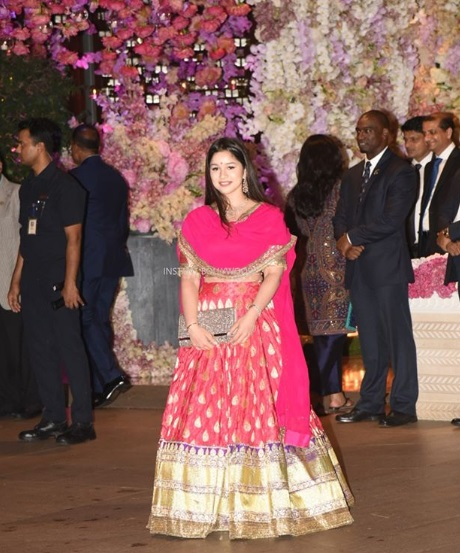 Sara Tendulkar at Akash Ambani -Shloka Mehta's Grand Engagement