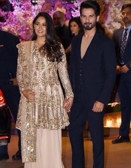 Shahid Kapoor - Mira Kapoor at Akash Ambani - Shloka Mehta's Grand Engagement