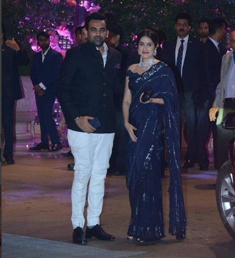 Zaheer Khan - Sagarika Ghatge at Akash Ambani -Shloka Mehta's Grand Engagement