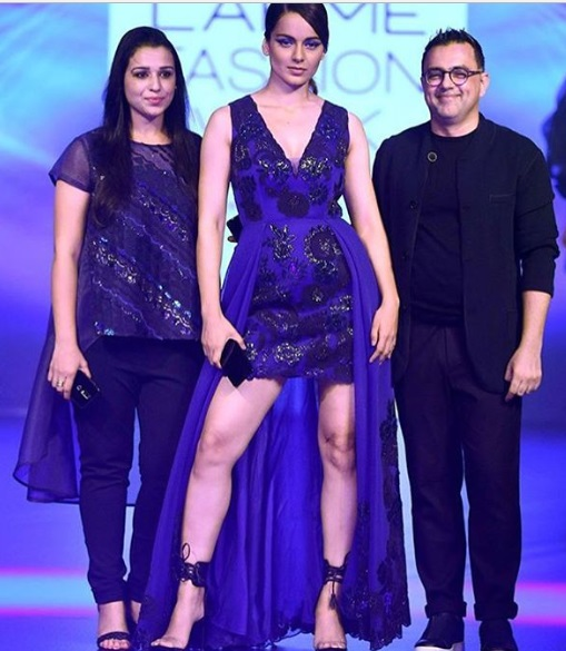 Kangana Ranaut Lakme Fashion Week w/f 2018