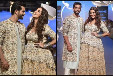 Pregnant Neha Dhupia Walks The Ramp At Lakme Fashion Week 2018 With Angad Bedi