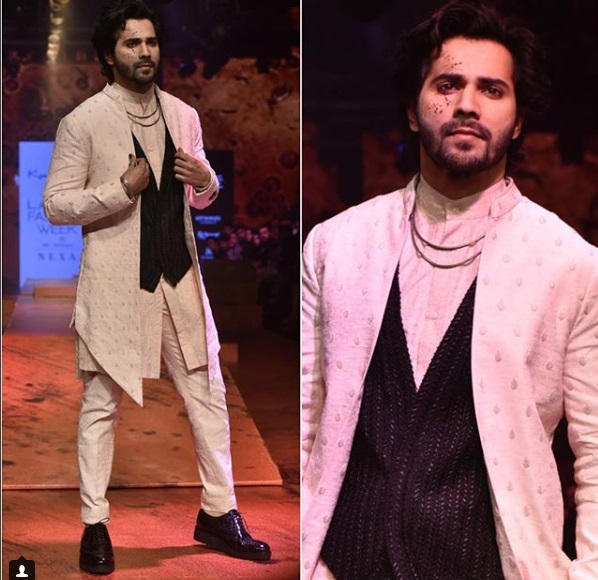 Varun Dhawan Lakme Fashion Week w/f 2018