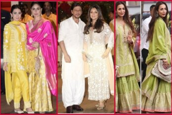 Shah Rukh Khan -Gauri, Kareena Kapoor, Karisma Celebrate Ganesh Chaturthi In Ethnic Wear!