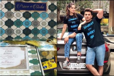 Bigg Boss 9 Winner Prince Narula – Fiance Yuvika Chaudhary Present Their Wedding Card To Lord Ganesha