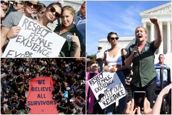 Hollywood's Amy Schumer, Emily Ratajkowski Arrested With Other Anti-Kavanaugh Protesters