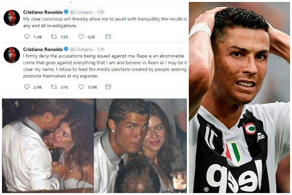Cristiano Ronaldo Accused Of Rape By Model Kathryn Mayorga; Ronaldo Denies Rape Claim