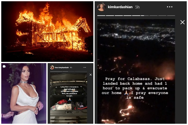 California Fire: Kim and Kourtney Kardashian Forced to Evacuate From Their Home As California Wildfires Rage