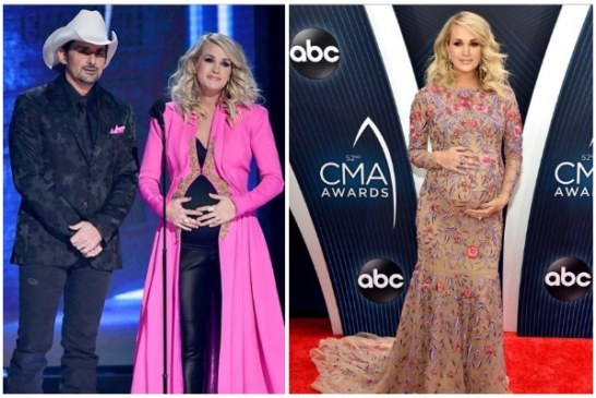 Pregnant Carrie Underwood Reveals Gender Of Her Baby At CMA 2018 Awards