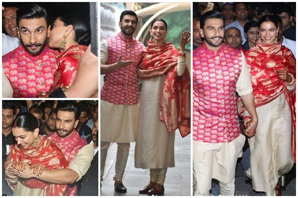 Newlywed Deepika Padukone – Ranveer Singh Are All Smiles and Happy As They Return Mumbai
