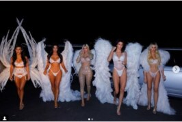 Kardashian-Jenner Sisters Ace The Best Halloween Looks As Victoria's Secret Angels
