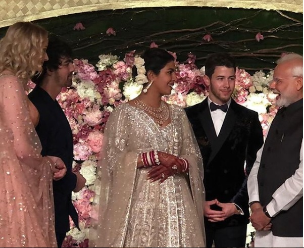 Modi Priyanka-Nick Reception
