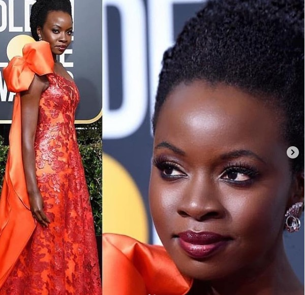 Danai Gurira at Golden Globes 2019 Red Carpet