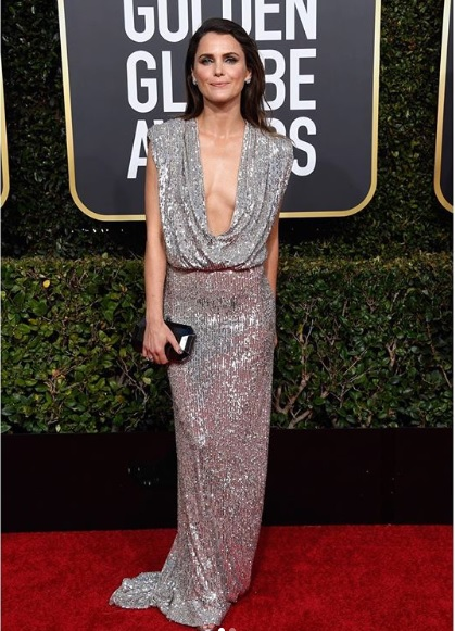 Keri Russell at Golden Globes 2019 Red Carpet
