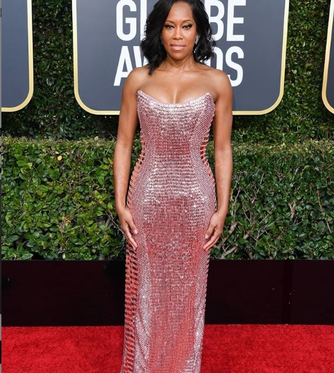 Regina King at Golden Globes 2019 Red Carpet