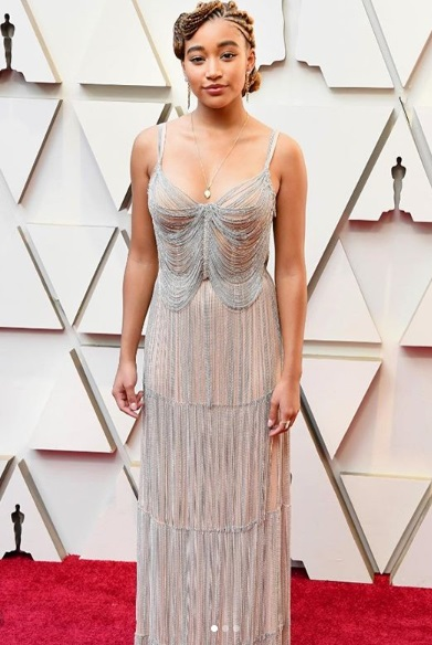 Amandla Stenberg Showstoppers at Oscars 2019 Red Carpet