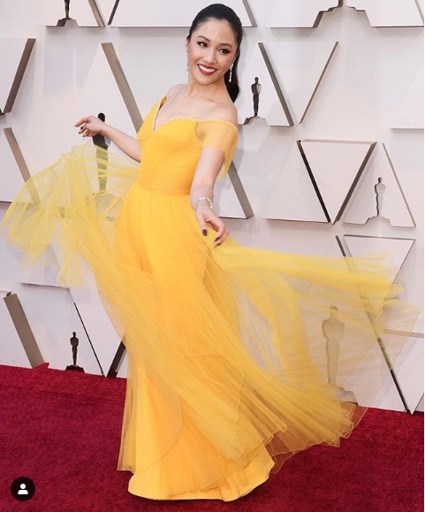 Constance Wu at Oscars 2019 Red Carpet