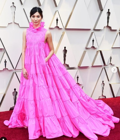 Gemma Chan Oscars 2019 Red Carpet