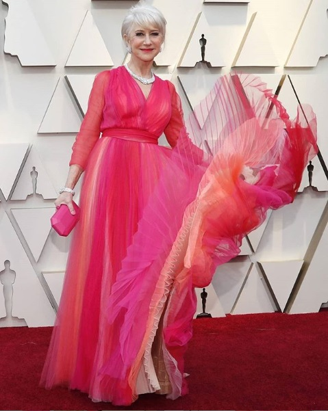 Helen Mirren Showstoppers at Oscars 2019 Red Carpet
