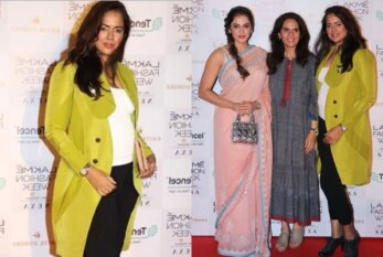 Actress Sameera Reddy Is Expecting Her Second Child, Flaunts Baby Bump at Lakme Fashion Week