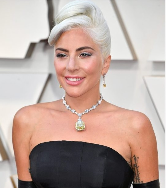 Lady Gaga Tiffany Yellow Diamond Necklace