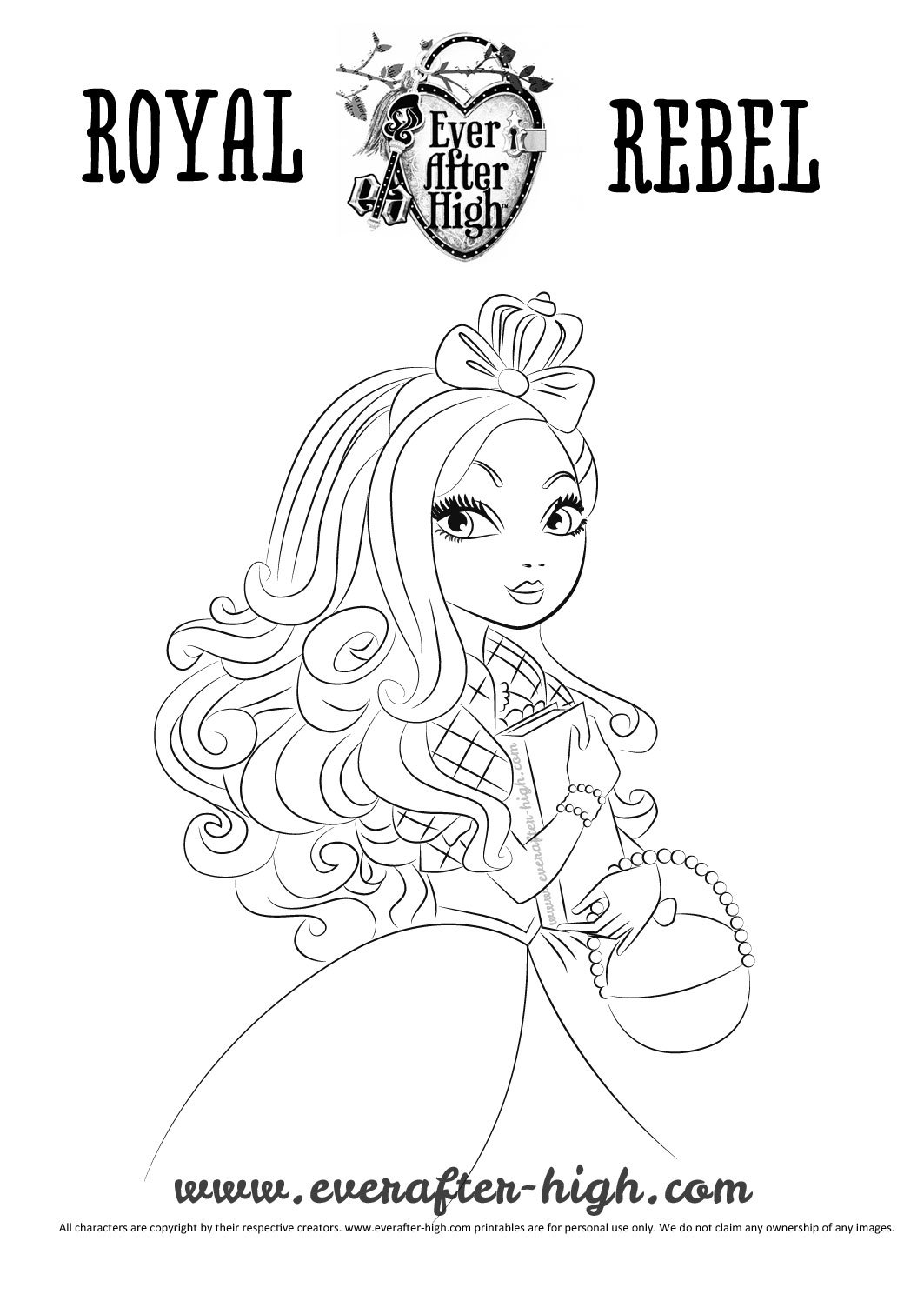 Apple White coloring page