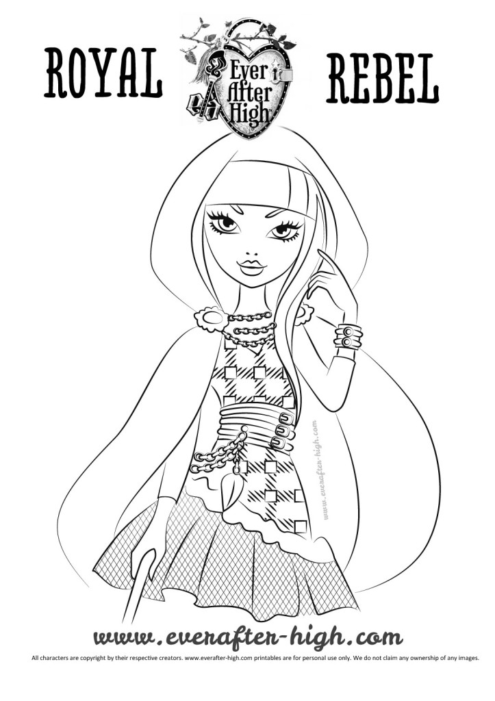 Cerise Hood Coloring Page