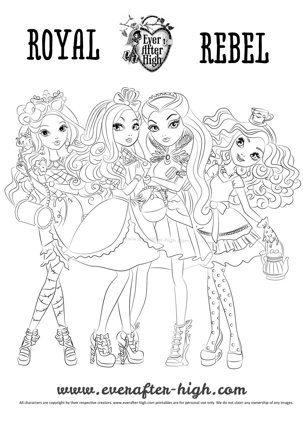 Raven Madeline Briar And Apple Coloring Page