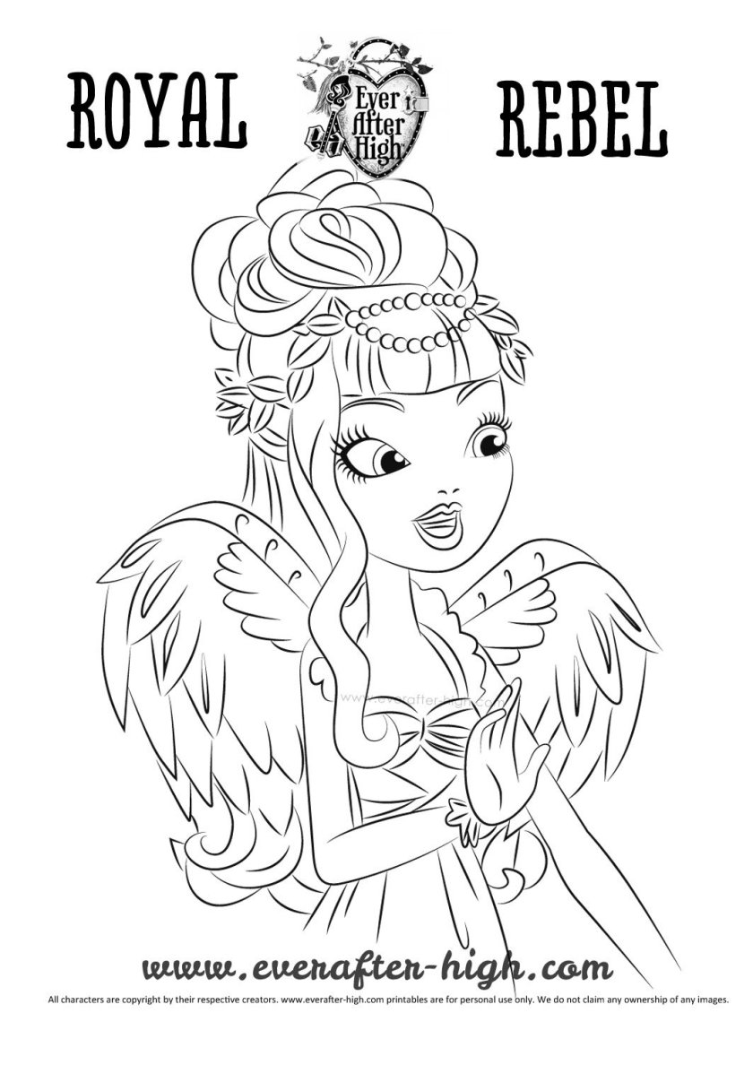 c.a. cupid true hearts day coloring page  ever after high