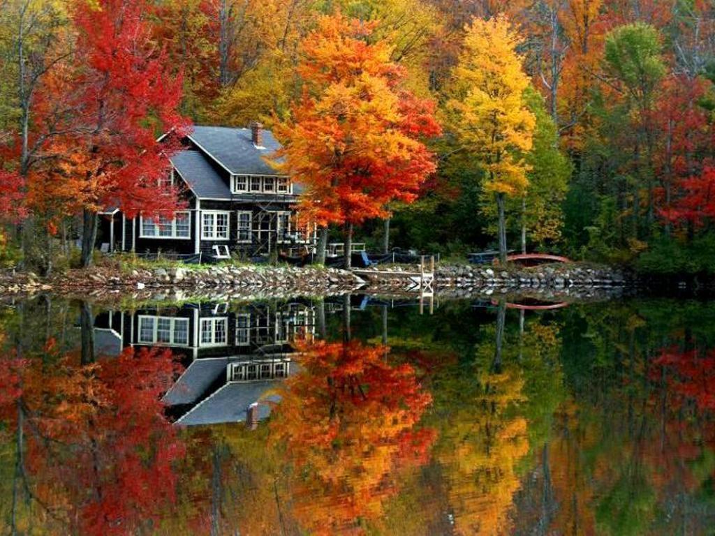 Lake House in Autumn