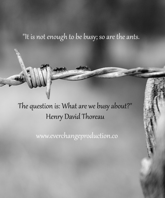 "Need some Monday Motivation to start your week off? Just remember: ""It is not enough to be busy; so are the ants. The question is: What are we busy about?"" Henry David Thoreau"