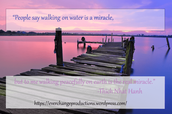 "Need some Monday Motivation to start your week off? Just remember: ""People say walking on water is a miracle, but to me walking peacefully on earth is the real miracle."" -Thich Nhat Hanh"