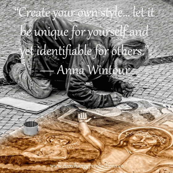"Need some motivation to start your week off? Just remember: ""Create your own style… let it be unique for yourself and yet identifiable for others."" ― Anna Wintour"