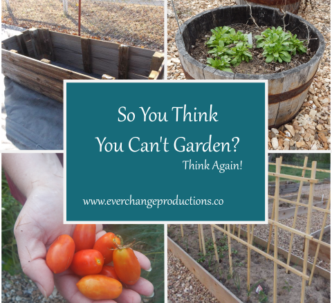 So you think you can't garden? Think again! Start slow and easy with a small space garden!