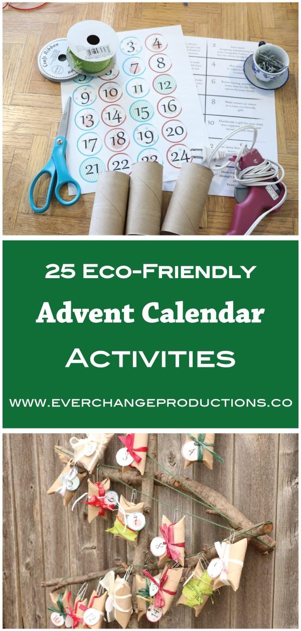 25 eco friendly advent calendar activities. Black Bedroom Furniture Sets. Home Design Ideas