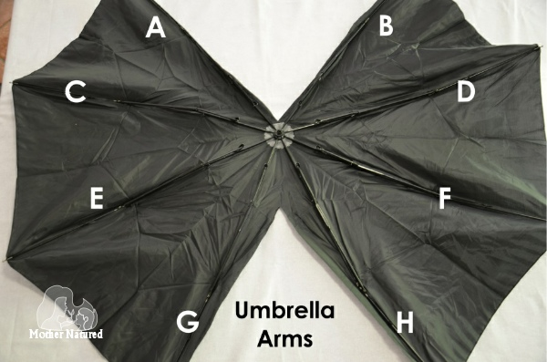Umbrella Bat Wing Costume - Wicked Awesome Upcycled Halloween Decorations
