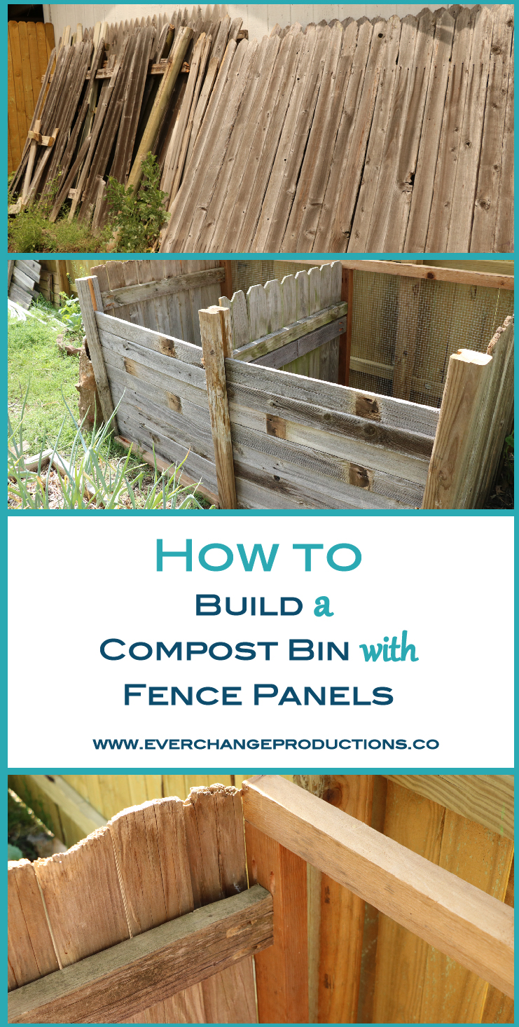 composting 101 build your own composter with repurposed fence panels