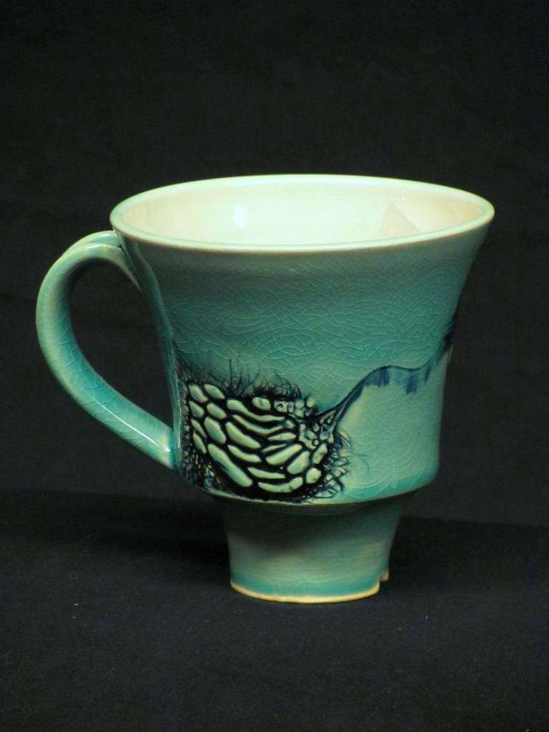 Frederick Bartolovic from Huntington, WV www.geocorpus.com – blue-green mug