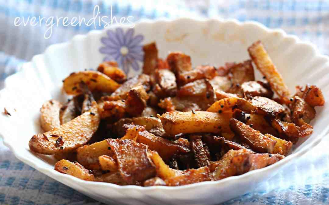 Potatoes tossed in cumin, aloo jeera