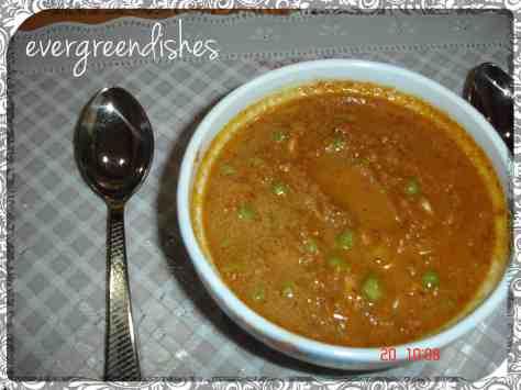 green peas masala
